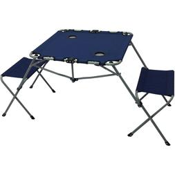Ozark Trail 2-In-1 Steel Camping Chair&Table Set with Two Re
