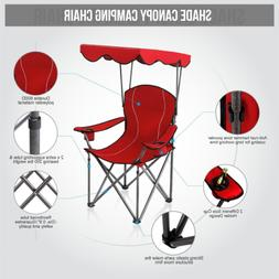 2020 Premium Portable Camping Folding Lawn Chair with Canopy