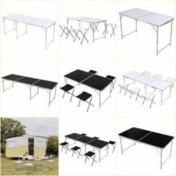 4/6FT Portable Folding Table Outdoor Picnic Camping Dining P