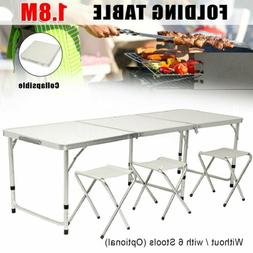 6 FT Portable Folding Table Outdoor Picnic Plastic Camping D