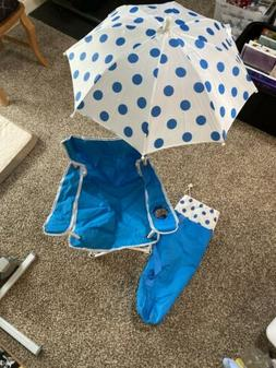 Beach Baby Kids Umbrella Camp Chair with matching Tote Bag i
