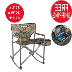 Camouflage Rocking Chair Folding Portable Camo Hunting Campi