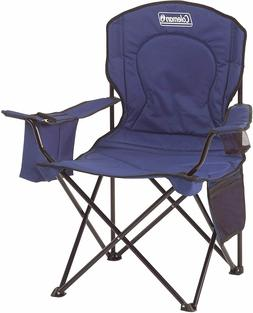 Camping Chair Blue Outdoor Oversized Portable Quad Cooler Fo