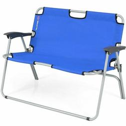 Camping Chair Double 2 Person Folding Bench Portable Lovesea
