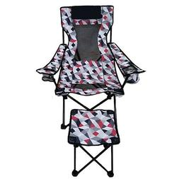 Camping, outdoor, Lounge  Chair With Detachable  Foot rest b