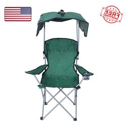 Canopy Camping Chair Folding Durable Outdoor Patio Seat with
