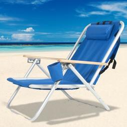 Chair Outdoor Camping Leisure Picnic Back Beach Adjustable H