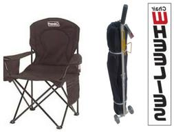 Coleman Oversized Quad Chair and Chair Wheelie Combo - Black