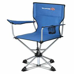 Collapsible Portable Swivel Camping Chair 360°Free Rotation