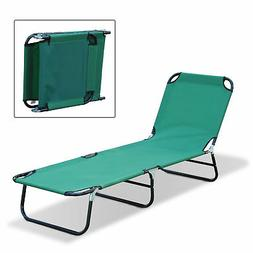 Outsunny Deluxe Folding Adjustable Sun Lounger / Camping Cot