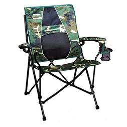 Strongback Elite Camo & Black Folding Camp Chair with Superi