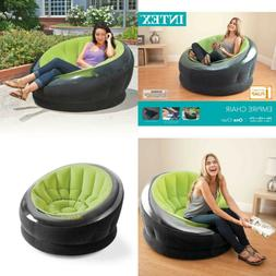 Intex Empire Inflatable Lounge Dorm Camping Chair for Adults