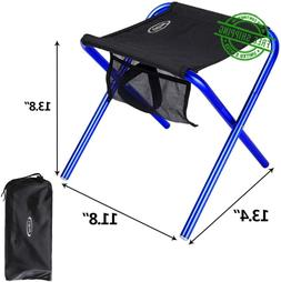 Folding Beach Chair Blue Camping Stool For Adults Heavy Duty