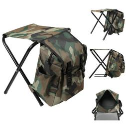 Folding Camping Chair Stool Backpack With Cooler Insulated H