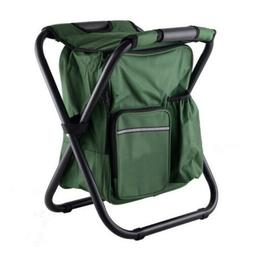 Folding Camping Fishing Chair Bag Stool Backpack Seat Table