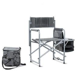Folding Compact Director's Chair with Cup Holder and Side Ta