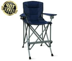 Camping Chair Folding Extra Tall Bar Height Director Seat Wi