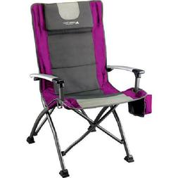 Ozark Trail Folding High Back Camping Chair Head Rest Cup Ho
