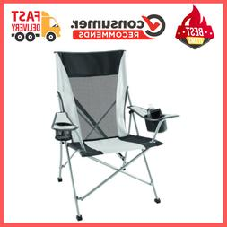 Folding Portable Camping Rocking Chair Cup Holder Sturdy Ste