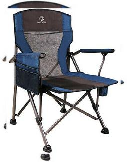 REDCAMP Heavy Duty Camping Chairs for Adults, Sturdy Navy Bl