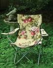 Victorian Trading Co Glamping Chintz Roses Folding Camping L