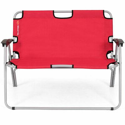 outdoor 2 person folding bench portable loveseat