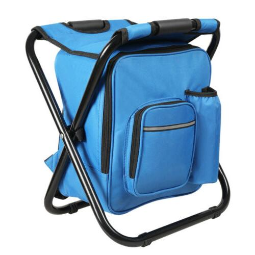 portable folding camping fishing chair stool backpack