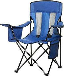 Mesh Folding Outdoor Blue Chair Sturdy Oversize Camping Port