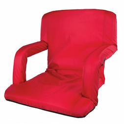 STANSPORT MULTI FOLD PADDED ARM CHAIR RED 420D POLYESTER CAM