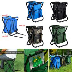Outdoor Folding Camping Fishing Chair Stool Portable Backpac