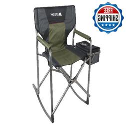 Outdoor Rocking Chair Folding Resistant Steal Frame Patio Ga