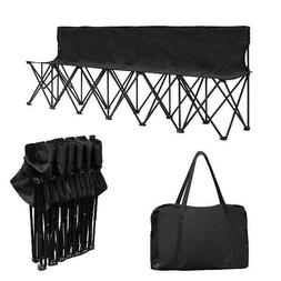 Costway Portable 6 Seats Folding Chair Bench Outdoor Sports