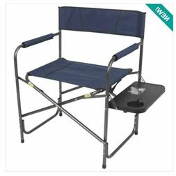 Portable Director's Camping Folding Chair with Side Table. 3