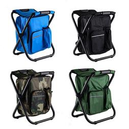 Portable Folding Fishing Chair Stool Backpack Outdoor Camp P