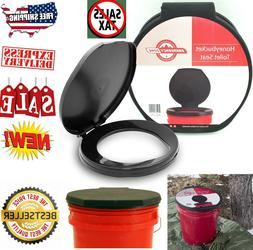 Portable Toilet Seat Emergency Camping Hunting Travel 5 Gall