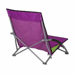 Stansport Low Profile Fold Up Chair Lime and Hot Pink G-11-3
