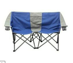Strong Two Person Comfy Folding Outdoor Camping Chair Love S