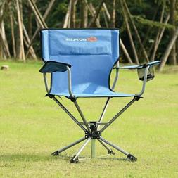 Swivel Camping Chair Collapsible Portable Picnic Fishing Out