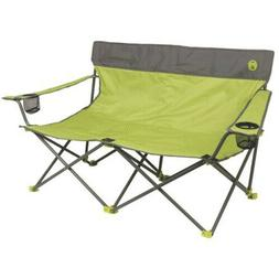 Two Person Folding Loveseat Camping Chair Outdoor Furniture